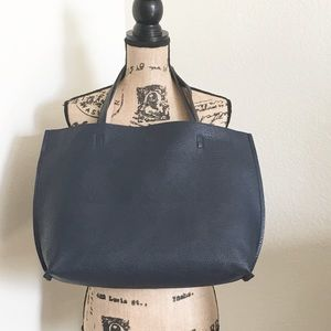 Navy Blue Large Tote